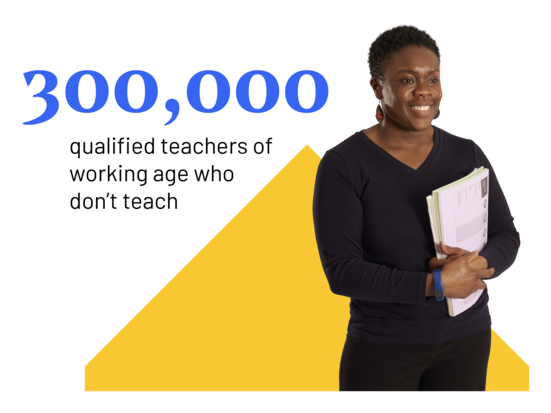 300,000 qualified teachers of working age do not teach