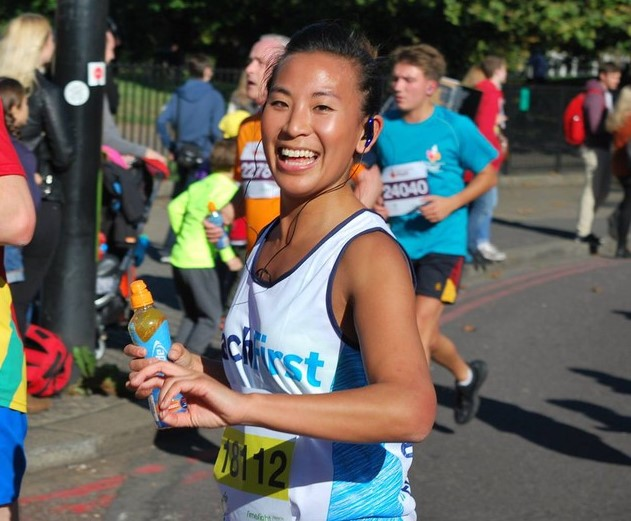 Girl running in ASICS 10k