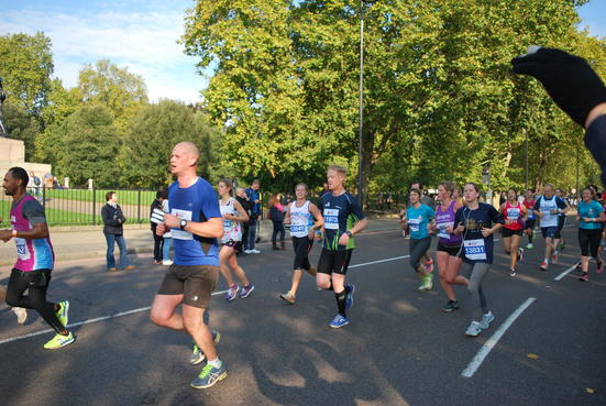 Runners taking part in the Royal Parks Half Marathon.