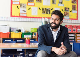 Nikhil Kapila - teacher in classroom