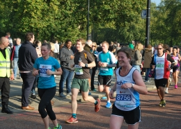 Runners at an event in London