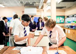 Students at Totteridge Academy partake in a science lesson