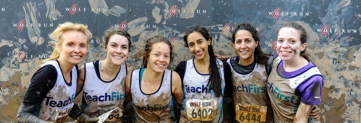 Teach First fundraisers from the Wolf Run