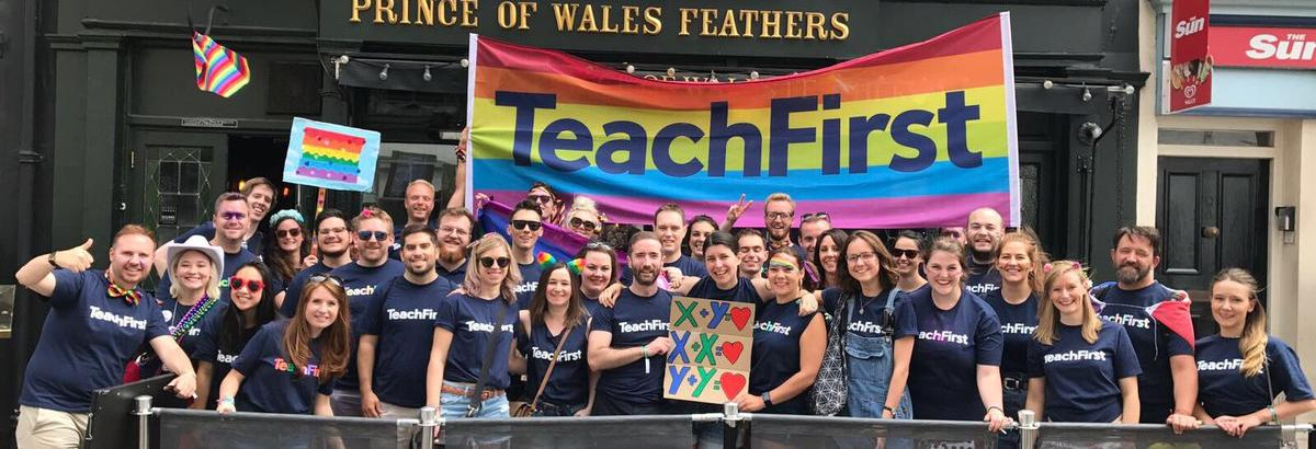 Teach First staff and teachers at London Pride 2017