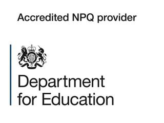 Department for Education logo with text - 'Accredited NPQ provider'