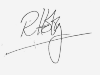 Signature of Teach First CEO Russell Hobby