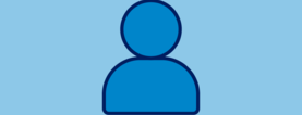 a placeholder image of a blue icon person