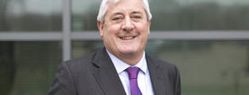 Teach First Chair of Trustees, Paul Drechsler, smiles to camera